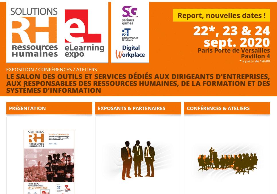 """Ad-Rh exposera au Salon """"Solution RH 2020"""" à Paris les 22, 23 et 24 septembre prochain"""