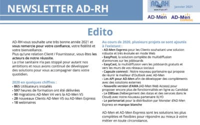Newsletter AD-RH – Janvier 2021